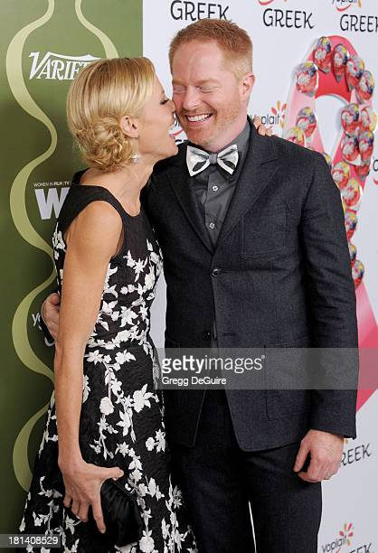 Actors Julie Bowen and Jesse Tyler Ferguson arrive at the Variety and Women In Film PreEmmy Party at Scarpetta on September 20 2013 in Beverly Hills...
