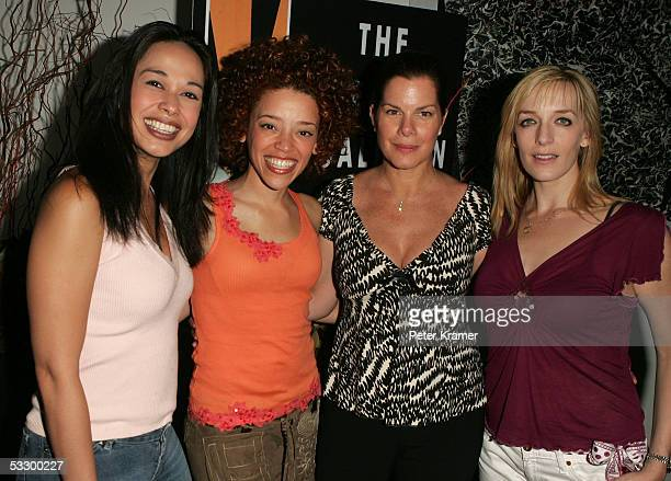Actors Julie DanaoSalkin Marcy Harriell Marcia Gay Harden and Julia Murney attend an evening with the cast of Lennon hosted by The Creative Coalition...