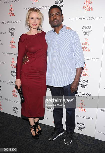 Actors Julie Delpy and Chris Rock attend The Cinema Society with MCM Grey Goose screening of Magnolia Pictures' 2 Days in New York at Landmark's...