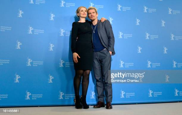 Actors Julie Delpy and Ethan Hawke attend the 'Before Midnight' Photocall during the 63rd Berlinale International Film Festival at the Grand Hyatt...