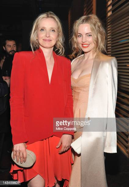 Actors Julie Delpy and Melissa George attend the '2 Days In New York' After Party hosted by Bombay Sapphire on April 26 2012 in New York City