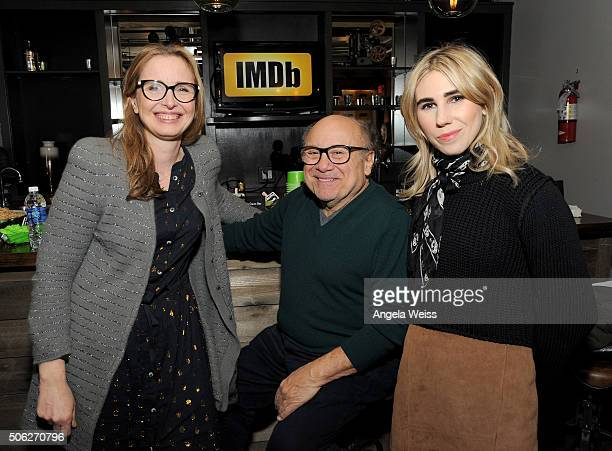 Actors Julie Delpy Danny DeVito and Zosia Mamet in The IMDb Studio In Park City Utah Day One Park City on January 22 2016 in Park City Utah