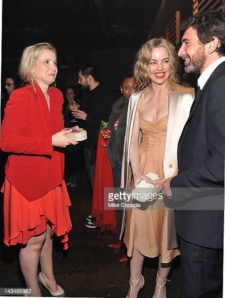 Actors Julie Delpy Melissa George and guest attend the 2 Days In New York After Party hosted by Bombay Sapphire on April 26 2012 in New York City
