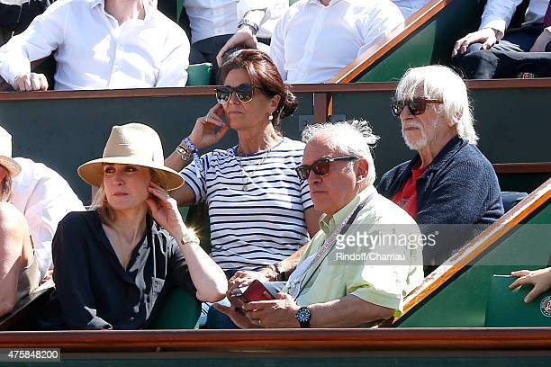 Actors Julie Gayet, Pierre Richard and Managing editor and publishing of 'Tennis Magazine', Jean Couvercelle with his wife Beatrice attend the 2015...