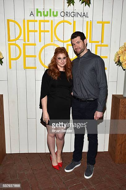 Actors Julie Klausner and Billy Eichner attend the Hulu original Difficult People FYC event at the Standard Hotel on May 19 2016 in New York City