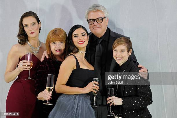 Actors Julie Lake Annie Golden Diane Guerrero Michael Harney and Abigail Savage attend The 23rd Annual Screen Actors Guild Awards at The Shrine...