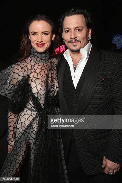 3fc1e5c2859b9 Actors Juliette Lewis and Johnny Depp attend The Art of Elysium 2016 HEAVEN  Gala presented by