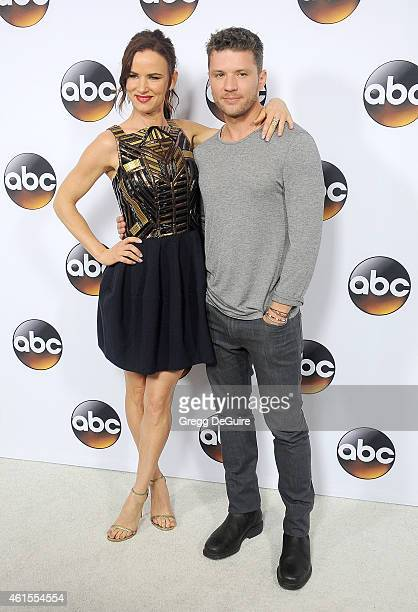 Actors Juliette Lewis and Ryan Phillippe arrive at Disney ABC Television Group's TCA Winter Press Tour on January 14 2015 in Pasadena California
