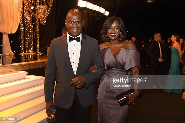 Actors Julius Tennon and Viola Davis attend The 22nd Annual Screen Actors Guild Awards at The Shrine Auditorium on January 30, 2016 in Los Angeles,...