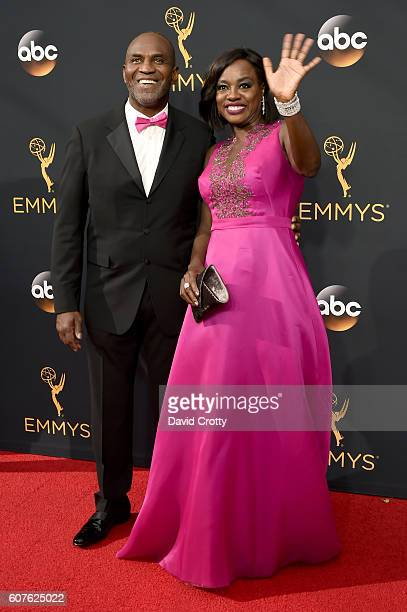 Actors Julius Tennon and Viola Davis attend the 68th Annual Primetime Emmy Awards at Microsoft Theater on September 18, 2016 in Los Angeles,...
