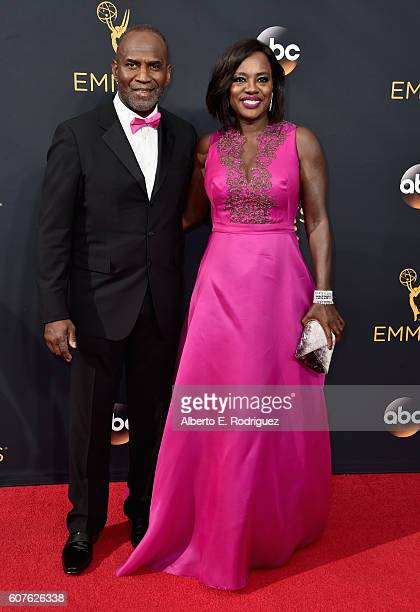 Actors Julius Tennon and Viola Davis attend the 68th Annual Primetime Emmy Awards at Microsoft Theater on September 18 2016 in Los Angeles California