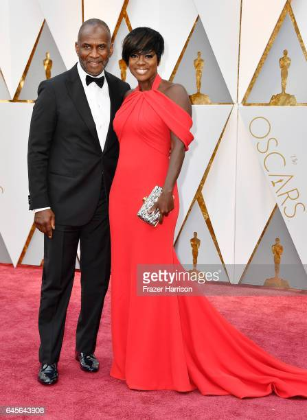 Actors Julius Tennon and Viola Davis attend the 89th Annual Academy Awards at Hollywood Highland Center on February 26 2017 in Hollywood California