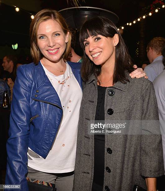 Actors June Diane Raphael and Beth Dover attend the Season 3 premiere of Paramount's Insurge Pictures' Burning Love Burning Down The House at The...