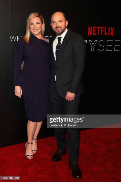 Actors June Diane Raphael and Paul Scheer arrive at the Netflix FYSee Kick Off Event at Netflix FYSee Space on May 7 2017 in Beverly Hills California