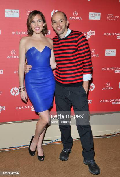 Actors June Diane Raphael and Paul Scheer attend the Ass Backwards premiere at Egyptian Theatre during the 2013 Sundance Film Festival on January 21...