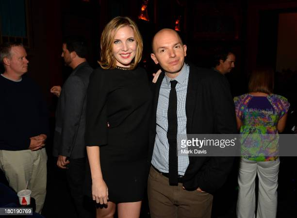 Actors June Diane Raphael and Paul Scheer attend the Childrens Hospital and NTSFSDSUV screening event at the Vista Theatre on September 9 2013 in Los...