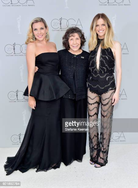 Actors June Diane Raphael Lily Tomlin and Brooklyn Decker attend the Costume Designers Guild Awards at The Beverly Hilton Hotel on February 20 2018...