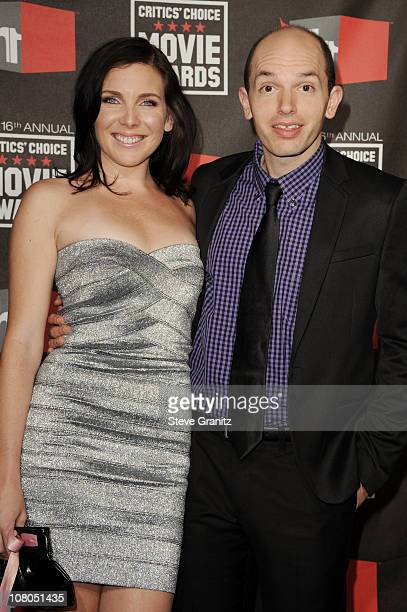 Actors June Raphael and Paul Scheer arrive at the 16th Annual Critics' Choice Movie Awards at the Hollywood Palladium on January 14 2011 in Los...