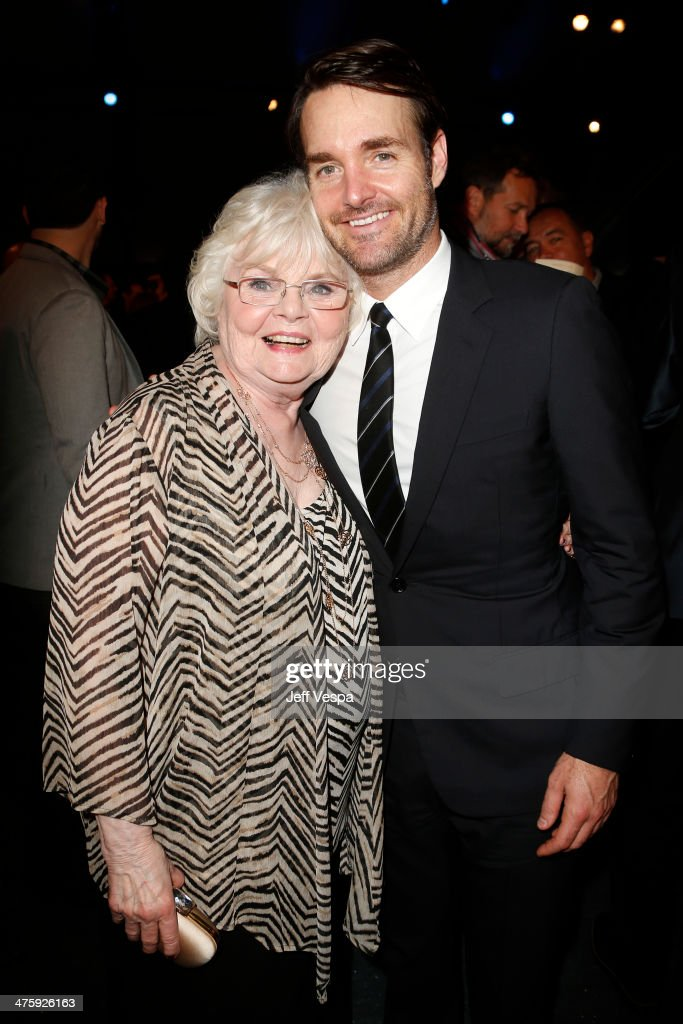 Actors June Squibb and Will Forte attend the 2014 Film Independent Spirit Awards at Santa Monica Beach on March 1, 2014 in Santa Monica, California.