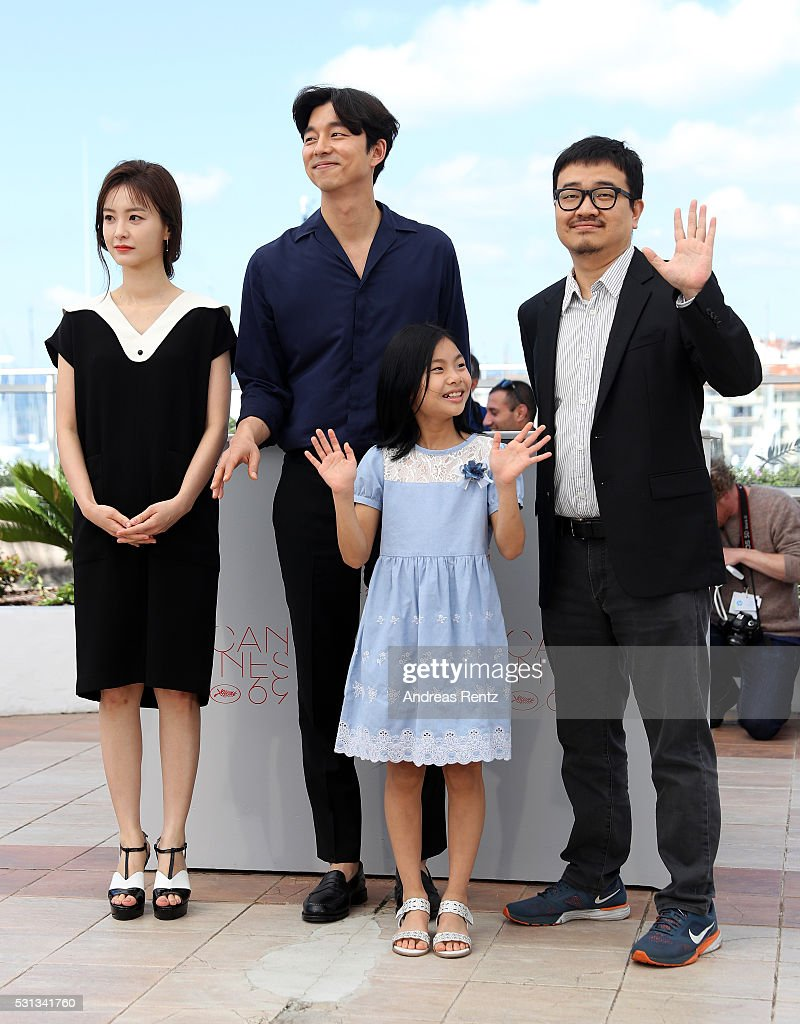 Actors Jung Yu-mi, Gong Yoo, Kim Su-an and director Yeon Sang-ho attend the 'Train To Busan (Bu_San-Haeng)' photocall during the 69th Annual Cannes Film Festival on May 14, 2016 in Cannes, France.