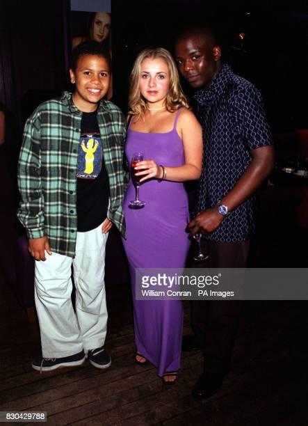Actors Junior Laniyan who plays 'Benji McHugh' Angela Hazeldine who plays 'Gemma Craig' and Joe Fox who plays 'Darren Scott' at Channel 5's Family...