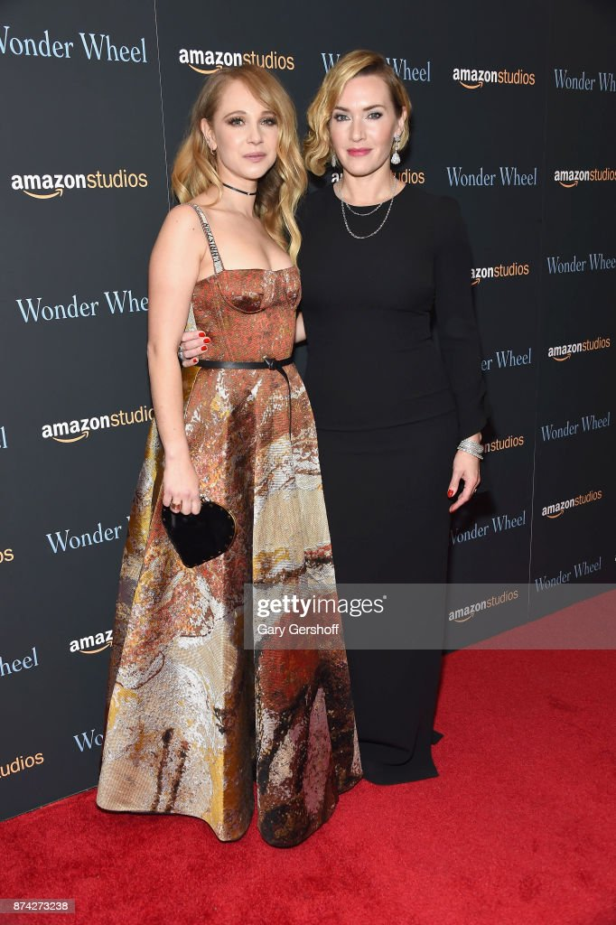 Actors Juno Temple and Kate Winslet attend the 'Wonder Wheel' New York screening at the Museum of Modern Art on November 14, 2017 in New York City.