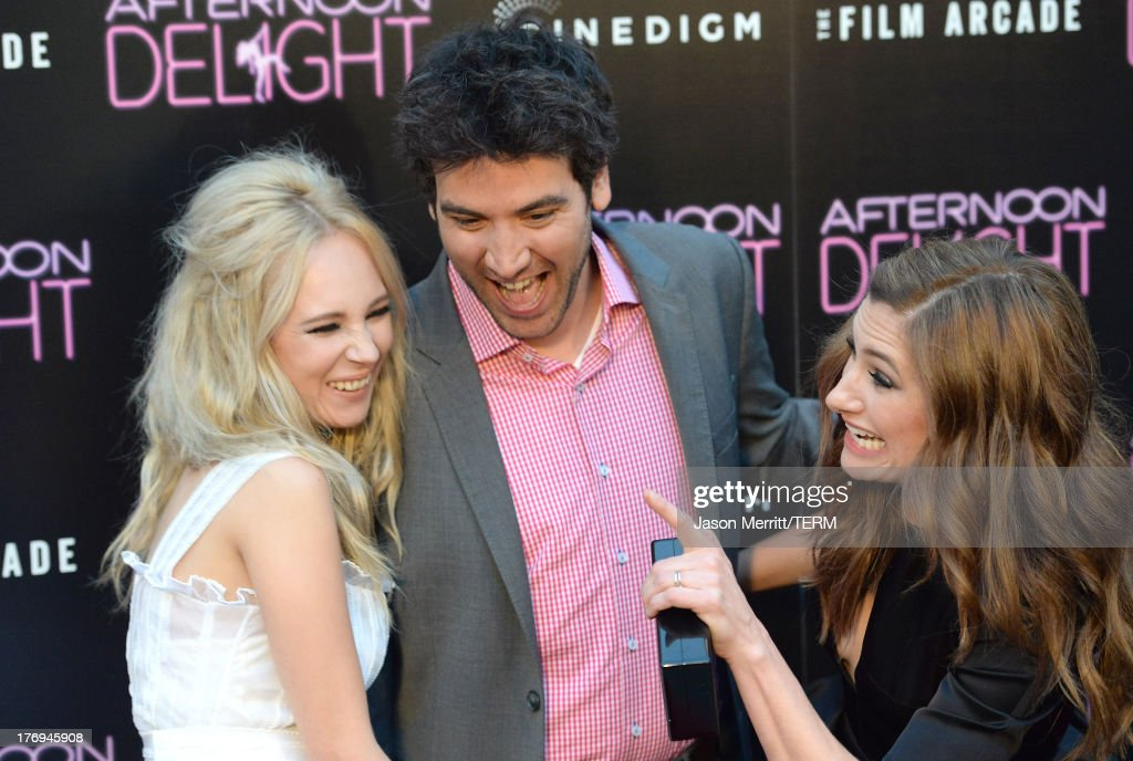 Actors Juno Temple, Josh Radnor, and Kathryn Hahn attend the premiere of the Film Arcade and Cinedigm's 'Afternoon Delight' at ArcLight Hollywood on August 19, 2013 in Hollywood, California.