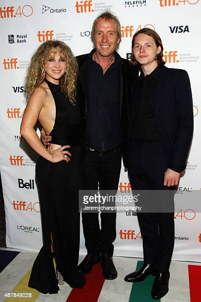 Actors Juno Temple Rhys Ifans and Jack Kilmer attend the Len And Company premiere during the Toronto International Film Festival at Ryerson Theatre...