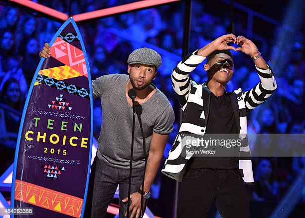 Actors Jussie Smollett and Bryshere Yazz Gray accept the Choice TV Award for Breakout Show for Empire onstage during the Teen Choice Awards 2015 at...