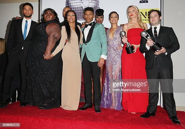 Actors Jussie Smollett, Gabourey Sidibe, Trai Byers, Taraji P. Henson, Bryshere Y. Gray aka Yazz, Grace Gealey, Kaitlin Doubleday and Danny Strong...