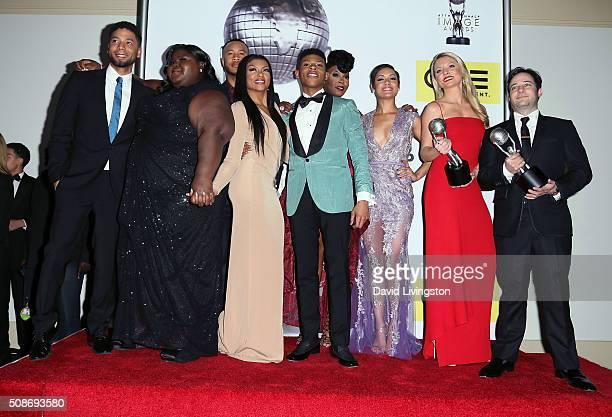 Actors Jussie Smollett, Gabourey Sidibe, Trai Byers, Taraji P. Henson, Bryshere Y. Gray aka Yazz, Ta'Rhonda Jones, Grace Gealey, Kaitlin Doubleday...