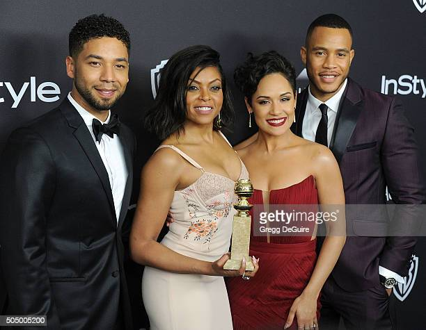 Actors Jussie Smollett, Taraji P. Henson, Grace Gealey and Trai Byers arrive at the 2016 InStyle And Warner Bros. 73rd Annual Golden Globe Awards...