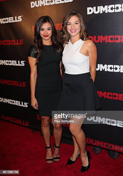 Actors Justene Alpert and Kimberlee Kidd attend the 'Dumbbells' premiere at SupperClub Los Angeles on January 7 2014 in Los Angeles California