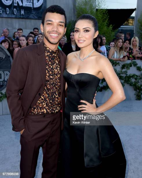 Actors Justice Smith and Daniella Pineda arrive at the premiere of Universal Pictures and Amblin Entertainment's Jurassic World Fallen Kingdom at the...