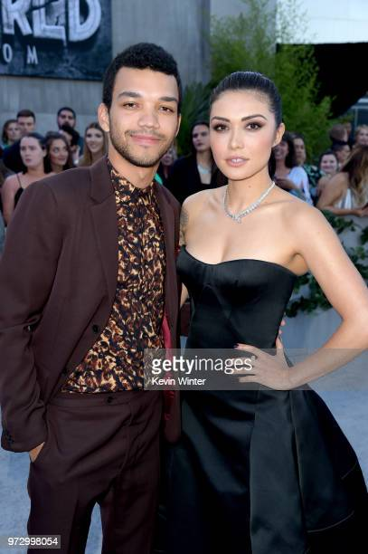 "Actors Justice Smith and Daniella Pineda arrive at the premiere of Universal Pictures and Amblin Entertainment's ""Jurassic World: Fallen Kingdom"" at..."