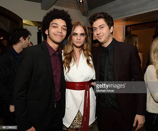 Actors Justice Smith Cara Delevingne and Nat Wolff attend WSJ Magazine and Forevermark host a special Los Angeles screening of Paper Towns at The...