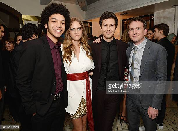 Actors Justice Smith Cara Delevingne Nat Wolff and director Jake Schreier attend WSJ Magazine and Forevermark host a special Los Angeles screening of...