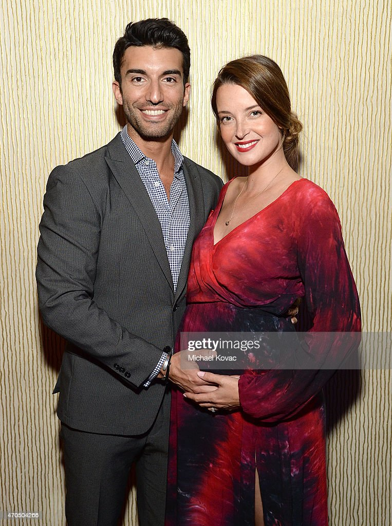 Actors Justin Baldoni (L) and Emily Baldoni attend the Anti-Defamation League's 2015 Entertainment Industry Dinner at The Beverly Hilton Hotel on April 20, 2015 in Beverly Hills, California.