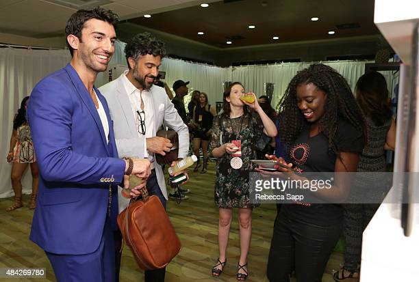 Actors Justin Baldoni and Jaime Camil attend the Backstage Creations retreat at Teen Choice 2015 at the Galen Center on August 16 2015 in Los Angeles...