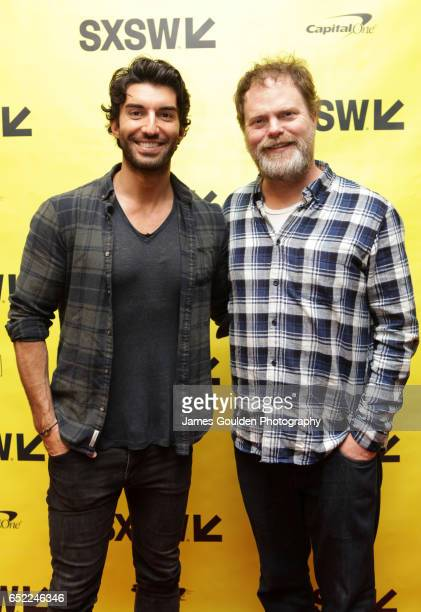 Actors Justin Baldoni and Rainn Wilson attend 'Shake up the Industry by Entertaining With Empathy' during 2017 SXSW Conference and Festivals at...