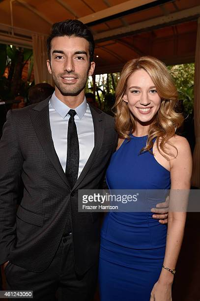 Actors Justin Baldoni and Yael Grobglas attend the 15th Annual AFI Awards at Four Seasons Hotel Los Angeles at Beverly Hills on January 9 2015 in...