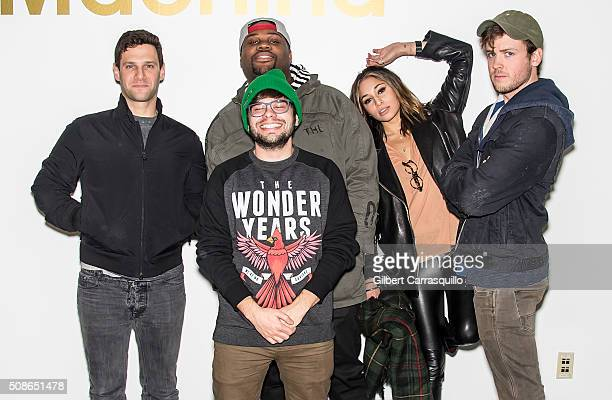 Actors Justin Bartha James Earl Charlie Saxton Meaghan Rath and Jack CutmoreScott attend the Cooper Barrett's Guide To Surviving Life Road Trip on...