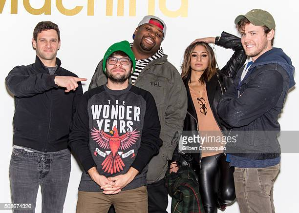 Actors Justin Bartha James Earl Charlie Saxton Meaghan Rath and Jack CutmoreScott attend the 'Cooper Barrett's Guide To Surviving Life' Road Trip on...