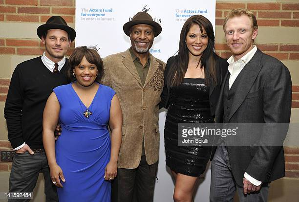 Actors Justin Chambers Chandra Wilson James Pickens Jr Sara Ramirez and Kevin McKidd attend Grey's Anatomy The Songs Beneath The Show after party...