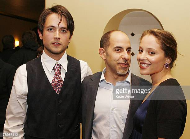 Actors Justin Chatwin and Margarita Levieva pose with director David S Goyer at a screening of Hollywood Picture's The Invisible at the Bruin Theatre...