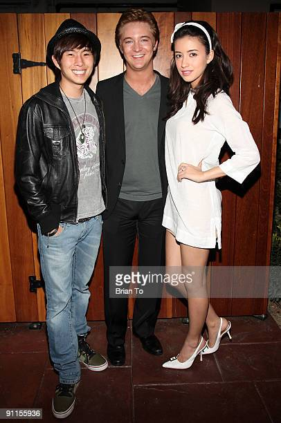 Actors Justin Chon Michael Welch and Christian Serratos arrive at Lost Dream Los Angeles Premiere at the Stanley Kramer Theater on May 7 2009 in...