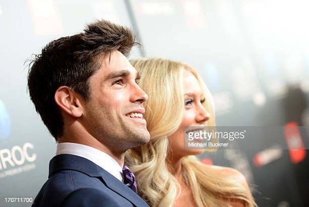Actors Justin Gaston and Melissa Ordway attend the 40th Annual Daytime Emmy Awards at the Beverly Hilton Hotel on June 16 2013 in Beverly Hills...