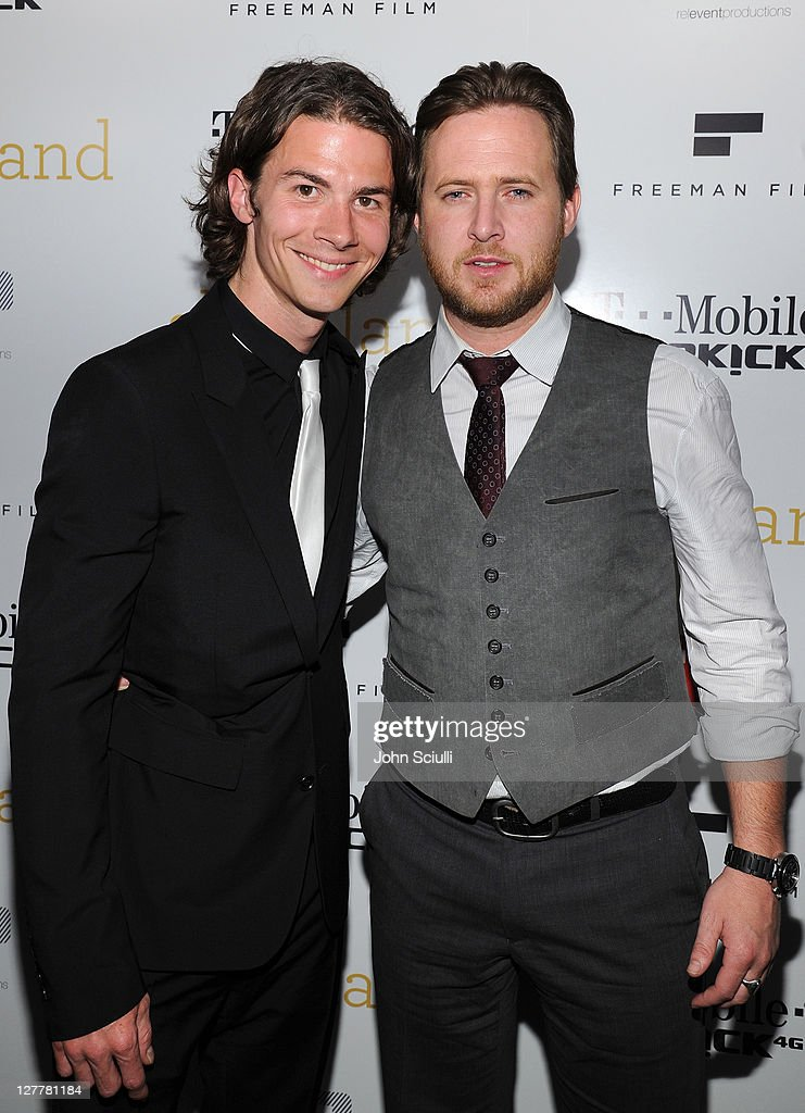 Actors Justin Gilley and A.J. Buckley attend the 'Skateland' after party on May 11, 2011 in Hollywood, California.