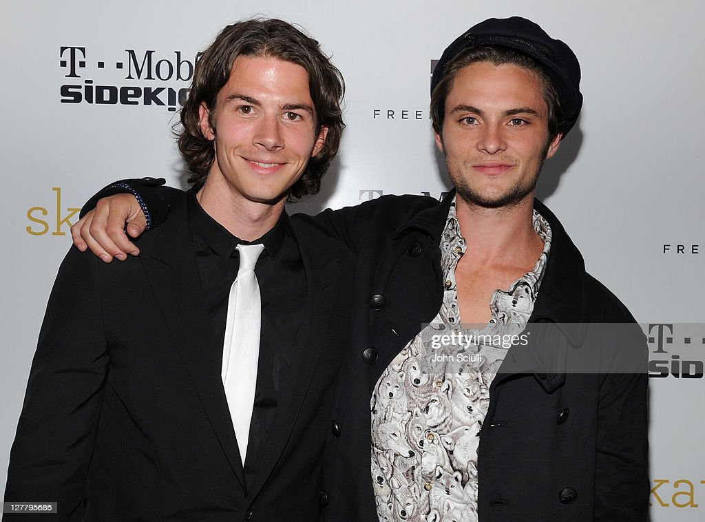 Actors Justin Gilley and Shiloh Fernandez attend the 'Skateland' after party on May 11, 2011 in Hollywood, California.