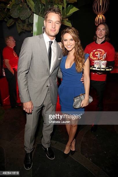 Actors Justin Hartley and Chrishell Stause attend OK Magazine's So Sexy LA Event at LURE on May 21 2014 in Los Angeles California